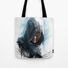 'We work in the dark, to serve the light'...Altair Tote Bag