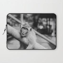 Cute Monkey (Black and White) Laptop Sleeve