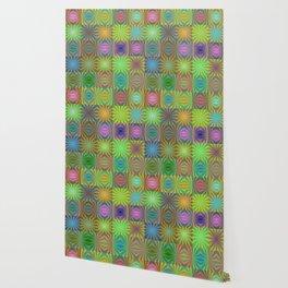 Radial squares Wallpaper