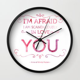 Scandalously in Love (With You) Wall Clock