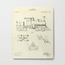 Locomotive Engine-1891 Metal Print