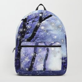 The Magic Of Winter Evening Backpack