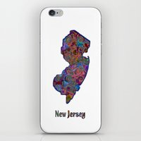 new jersey iPhone & iPod Skins featuring New Jersey by gretzky