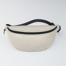 Circular Gold Plastered White Fanny Pack