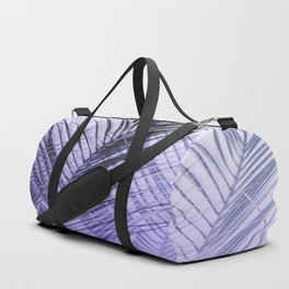 Palm Leaves On A Violet Background #decor #society6 #buyart Duffle Bag