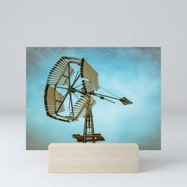 Vintage Challenge Company Wooden Sectional Windmill Batavia Illinois Mini Art Print