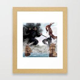 Rand in the Sky over Falme Framed Art Print