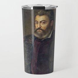 Portrait of Alfonso d'Este, Duke of Ferrara, by Titan Travel Mug