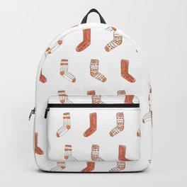 Cozy Socks Pattern // Fall Illustration Backpack