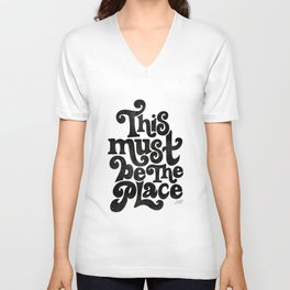 This Must Be The Place (Black Palette) Unisex V-Neck