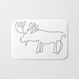 Line Moose Bath Mat