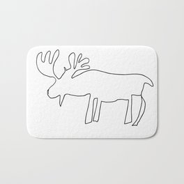 Line Moose Bath Mat