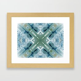 Into the Forest (Green) Framed Art Print