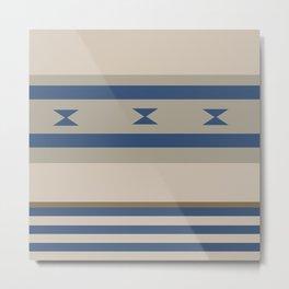 American Native Pattern No. 124 Metal Print