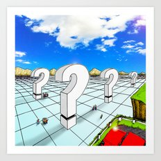 In the Valley of the Big Questions Art Print
