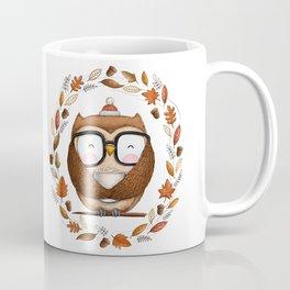 Fall Ready Owl- Illustration Coffee Mug