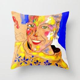 Smile 3 Throw Pillow