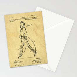 Old Patent Drawing Stationery Cards