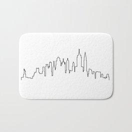 New York City Skyline Silhouette Bath Mat