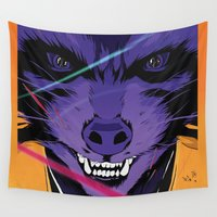 guardians of the galaxy Wall Tapestries featuring Rocket Raccoon Guardians of the galaxy by W.B.