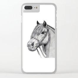 Shetland Pony Portrait Clear iPhone Case