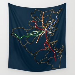 The MBTA Network Wall Tapestry