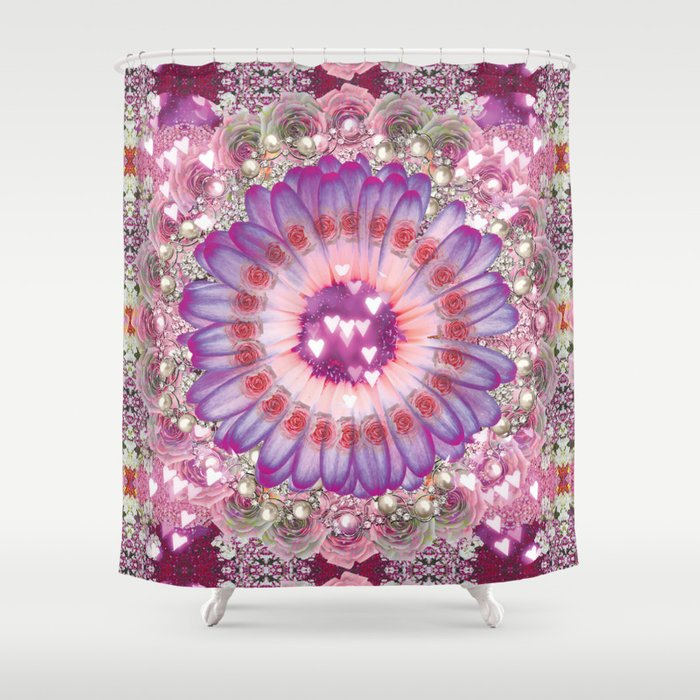 pink love daisy Shower Curtain by stormymade | Society6
