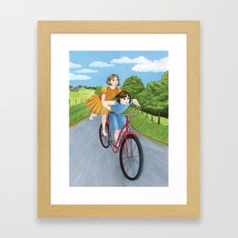 How Wilma and I Got Around Framed Art Print