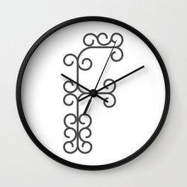 "Letter ""F"" in beautiful design Fashion Modern Style Wall Clock"
