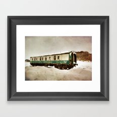 Out in the Cold Framed Art Print