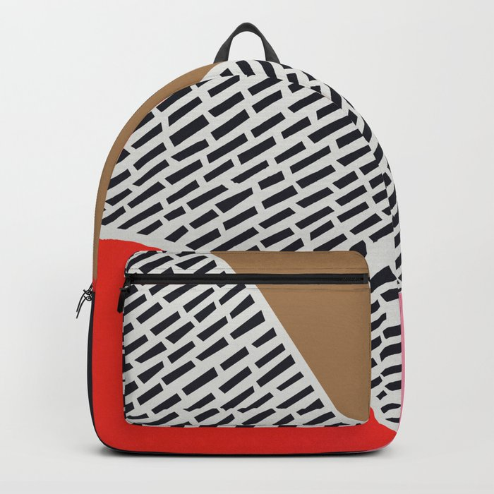 Pink Gold Red Abstract Backpack
