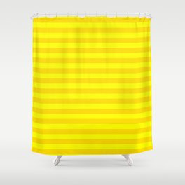 Bright , yellow , striped Shower Curtain