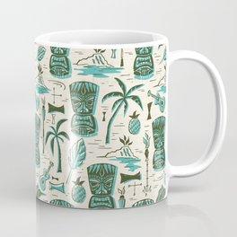 Tropical Tiki - Cream & Aqua Coffee Mug