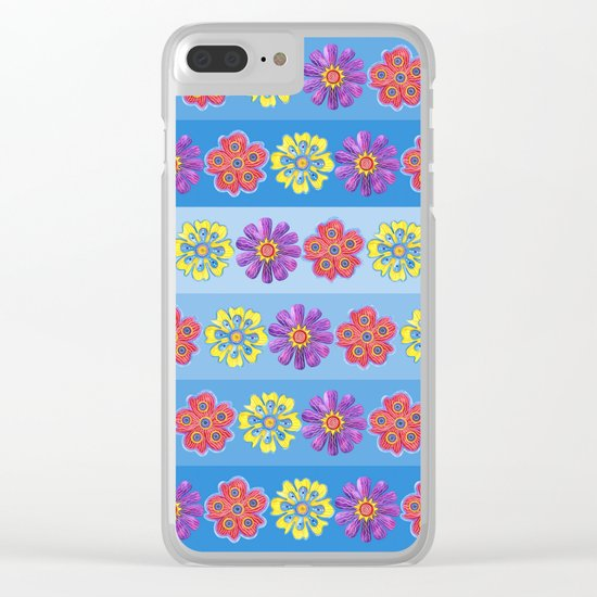 Stacks of Flowers Clear iPhone Case