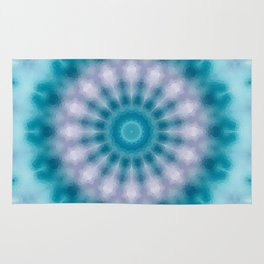 Sky blue kaleidoscope Rug