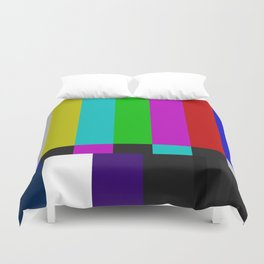 SMPTE Color Bars (as seen on TV) Duvet Cover
