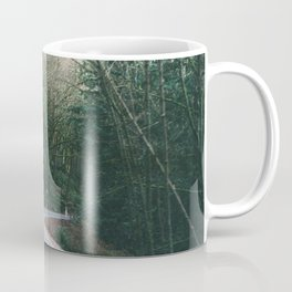 drive through the woods Coffee Mug