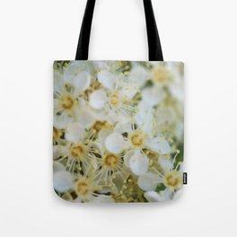 White & Yellow Tote Bag
