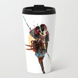 Samurai Moon Travel Mug