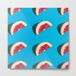 Geometric Grapefruits Metal Print