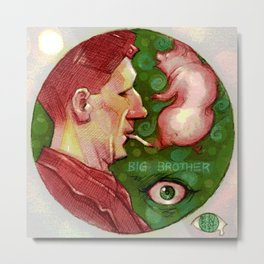 Of Pigs and Big Brothers Metal Print