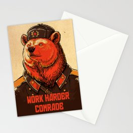 Work Harder, Comrade! Stationery Cards