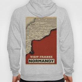 Normandy France Vintage travel print. Hoody