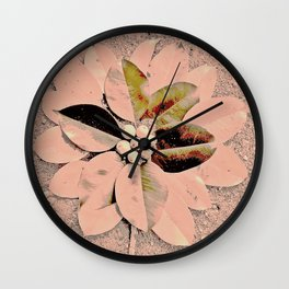 Pastel Pink Flower Wall Clock