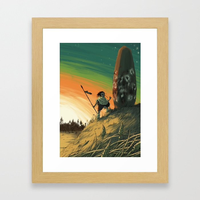 Megalith Framed Art Print