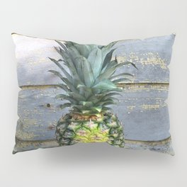 Pineapple Stripes on Weathered Wood Pillow Sham