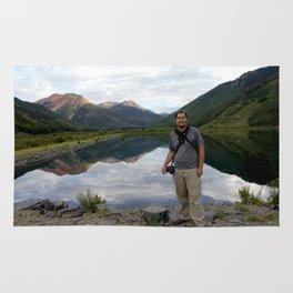Photographer on Crystal Lake Rug