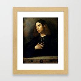 "Giorgione ""Portrait of a Youth (maybe Antonio Broccardo)"" Framed Art Print"