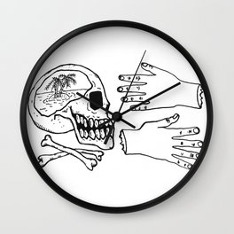 Lonely Vacation Wall Clock
