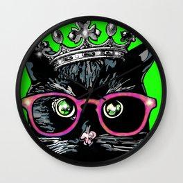 Cat dress-up time Wall Clock